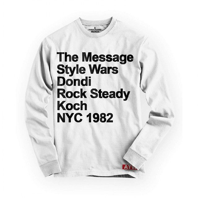 I don't love a ton of street wear clothing pieces for my own personal wardrobe any more but I REALLY want this limited edition #StyleWars ATW sweatshirt!
