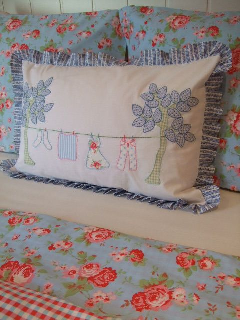 cute pillow, cute bed linens