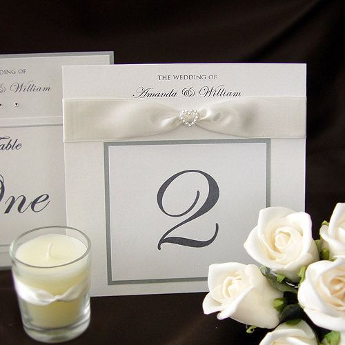 Elegant Wedding Reception Table Name Card Table Number Card Qty 10
