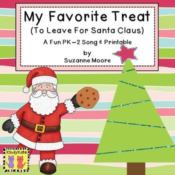 Freebie! December Santa Song and No-Prep Printable