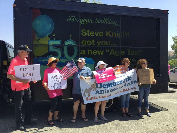 #TB to a 2-Week AdVan Campaign for the Democratic Alliance for Action in L.A.  #DAA #democrats #SantaClarita #CA