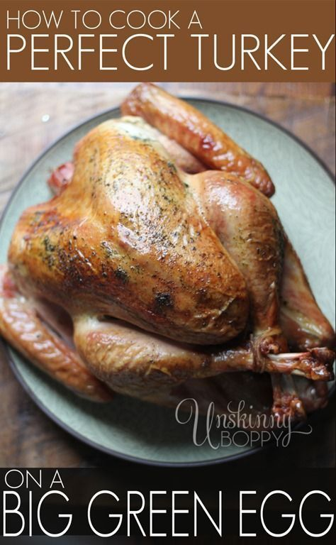 Perfect Thanksgiving Turkey on the Big Green Egg - Unskinny Boppy