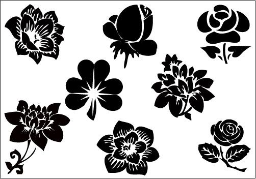 Flower Silhouette Clip Art Pack | Inspirational Ideas ...