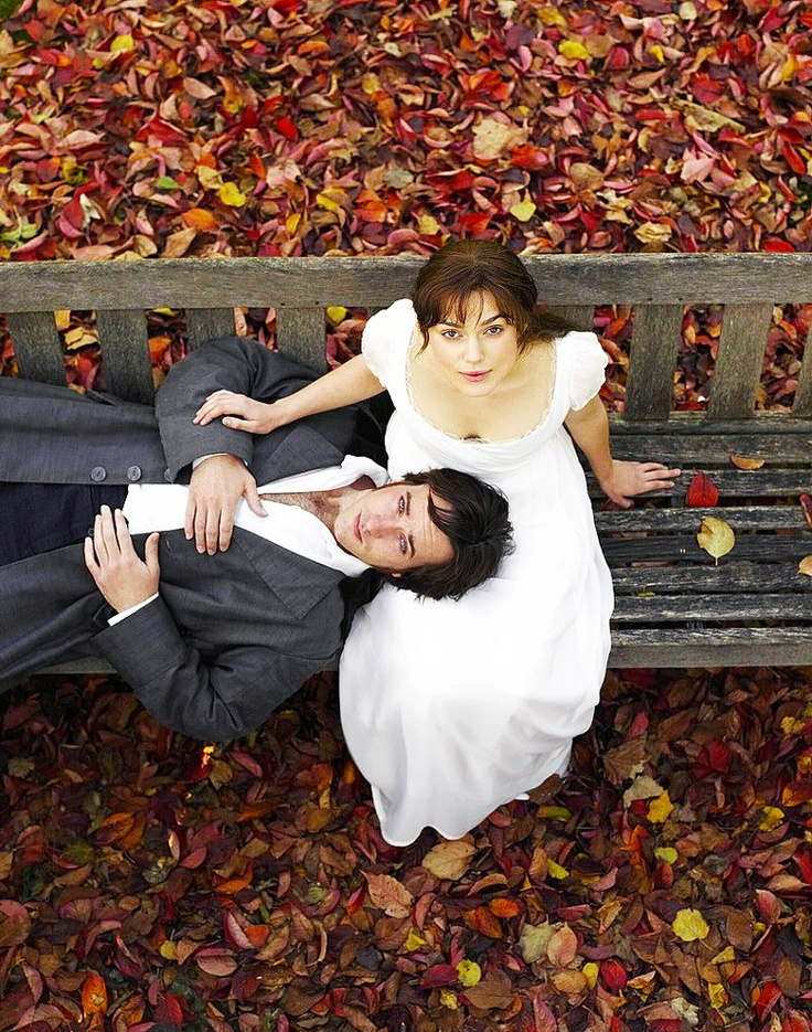 Mr. Darcy and Elizabeth. Pride and Prejudice. They are the perfect couple. Aw.