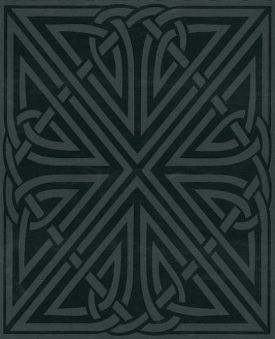 Viva (18099) - Barbara Hulanicki Wallpapers - A strong symmetrical motif design, within a large ...