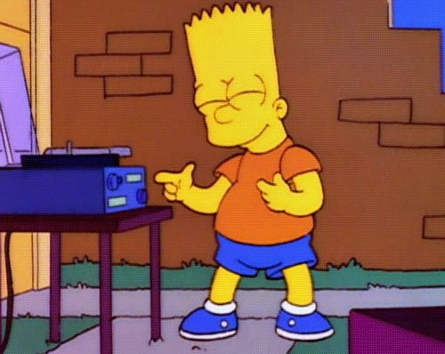 Bart gets down to vinyl