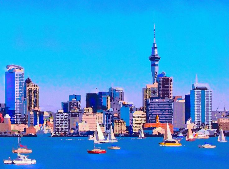 "An art rendering of our magnificent skyline and harbour - the ""City of Sails"" as we love to call it."