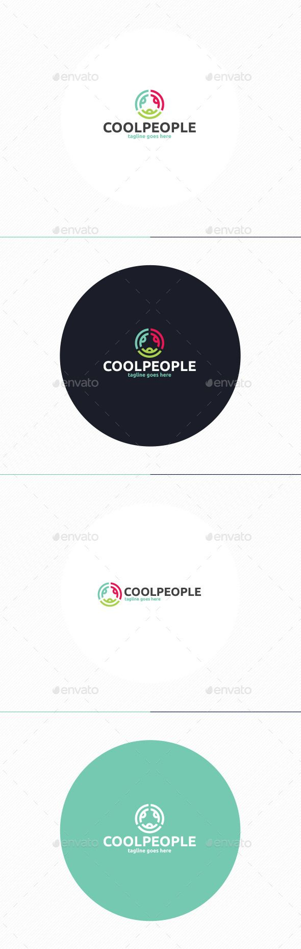 Cool People Logo Template PSD, Vector EPS, AI #logotype Download here: http://graphicriver.net/item/cool-people-logo/10271778?ref=ksioks