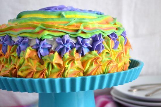 Rainbow Frosting, Rainbow Cake, Poke Cake, Jello Recipes