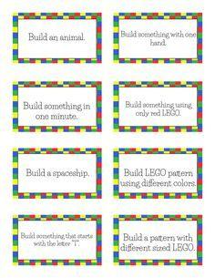 Free Printable LEGO Challenge Cards! | Free Homeschool Deals ©