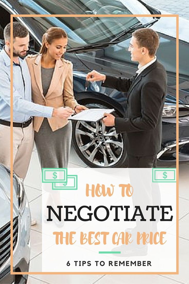 How to Negotiate Car Price: 6 Tips for Negotiating a New Car - http://www.compare.com/auto-insurance/guides/how-to-negotiate-car-price.aspx?utm_source=pinterest&utm_medium=socialmedia&utm_campaign=negotiate