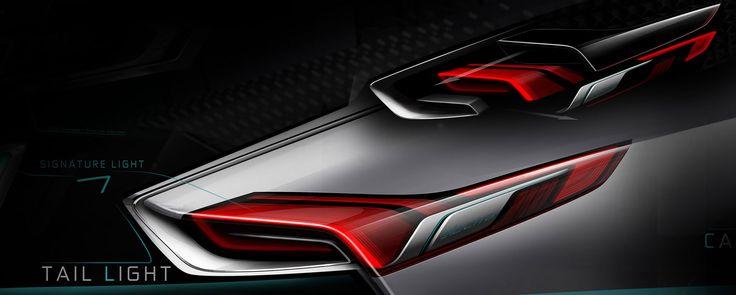 Buick Riviera Concept - Tail Light Design Sketch