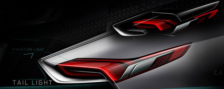 Buick Riviera Concept - Tail Light Design Sketch