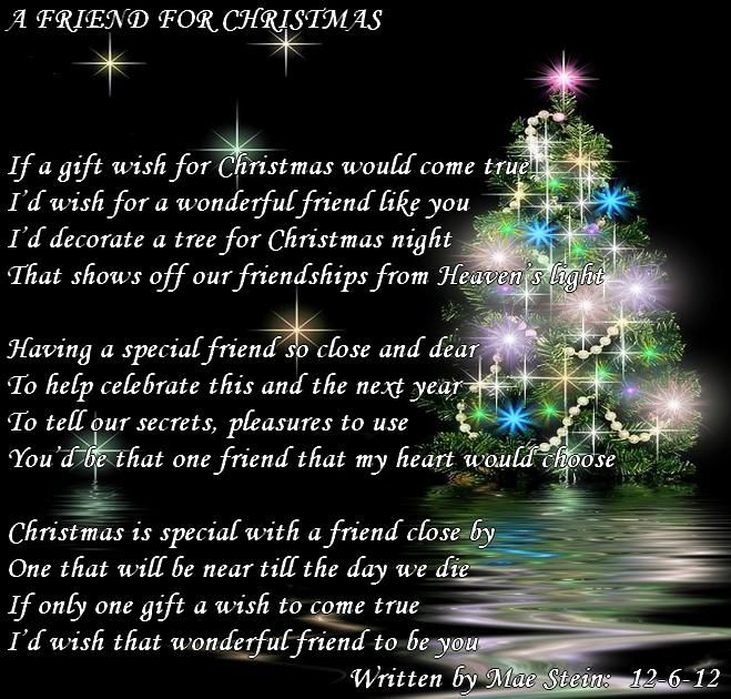 merry christmas poems for friends | FRIEND FOR CHRISTMAS - All types of Poetry