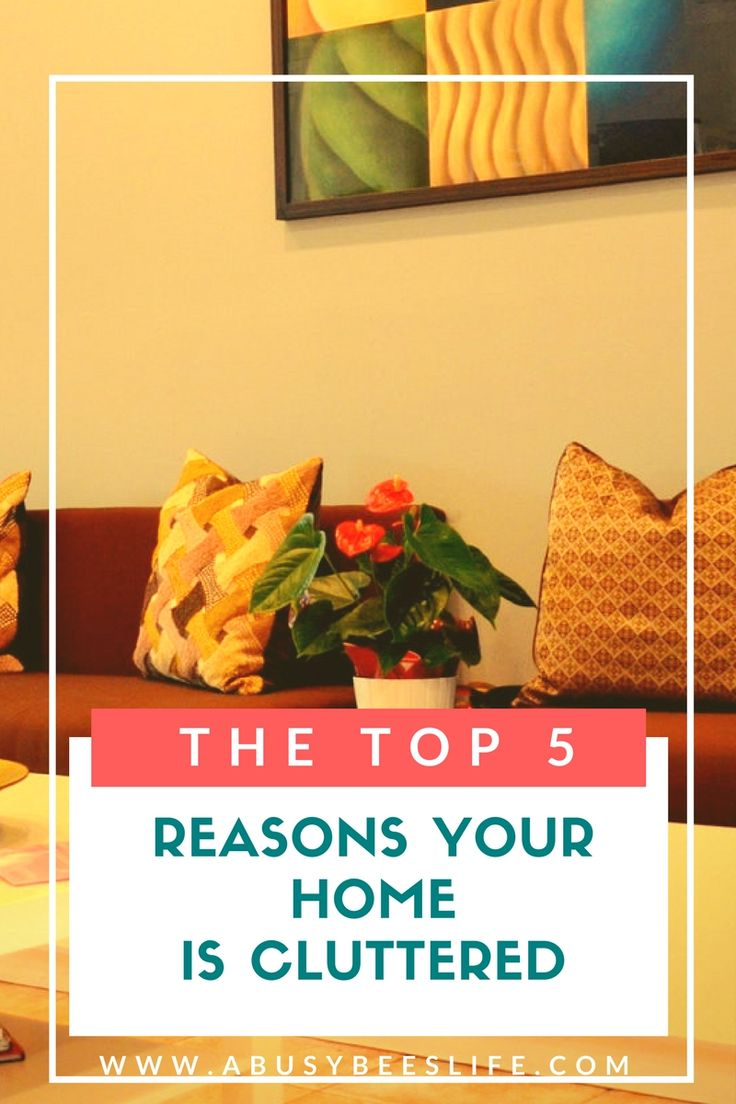 Your  home is cluttered, but can you identify the reasons why? here are the top five reasons your home is cluttered and how to fix it. There is no reason to live in a cluttered home another day. Click through to be clutter-free! via @abusybeeslife