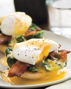 Lemony Eggs Florentine. | breakfast | Pinterest