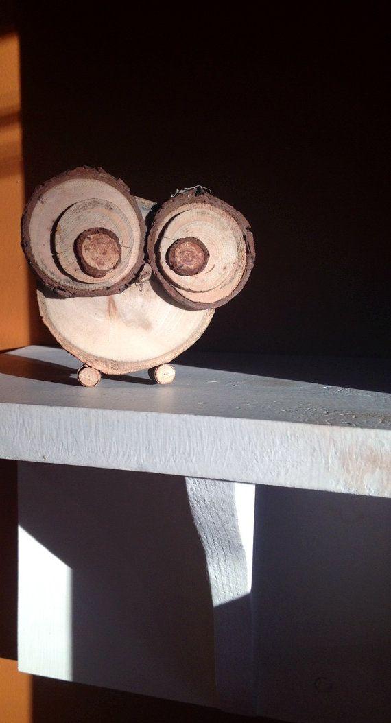 Handmade Tree Slice Woodland Owl by NatureWise on Etsy