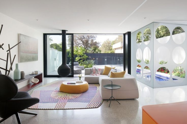 Indoor-outdoor flow is focus of this living room