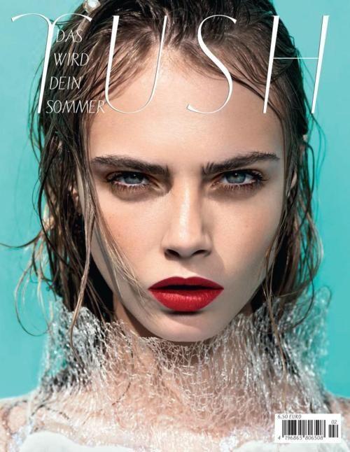THE FASH PACK, Cara Delevigne covers Tush magazine
