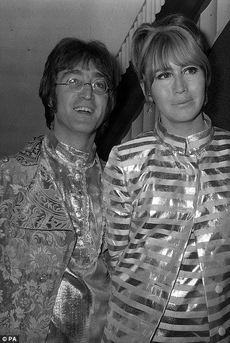Cynthia and John Lennon together in 1968...
