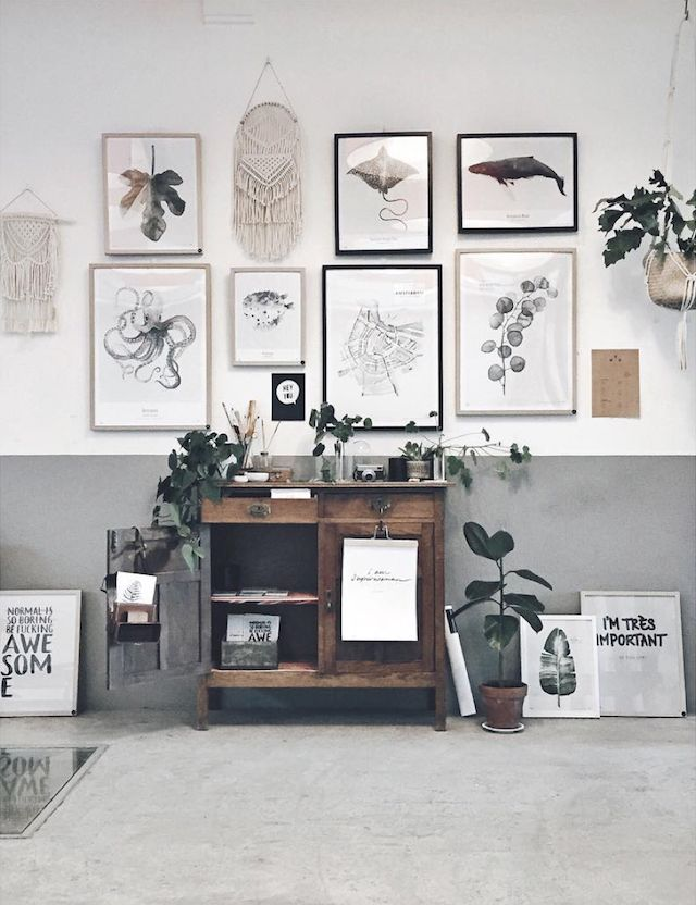 The inspiring home and studio of Maaike Koster of My Deer Art Shop and wonderful wall art