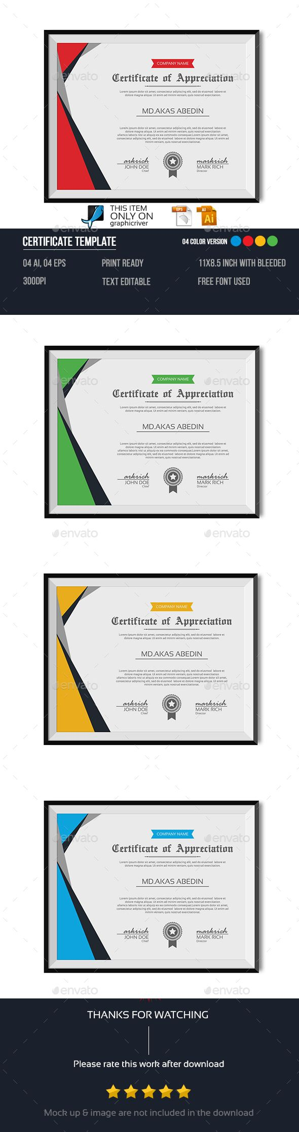 #Certificate #Template - Certificates Stationery Download here: https://graphicriver.net/item/certificate-template/14309938?ref=alena994