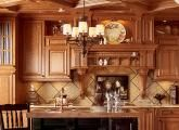 cherry solid wood kitchen cabinets, natural finish