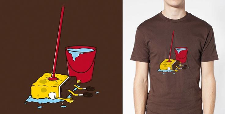 New t-shirt in Goodmondays.com! Bob Mop! http://goo.gl/UFc6O