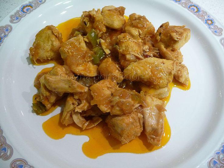 Pechugas de pollo en salsa para #RecetarioMañoso