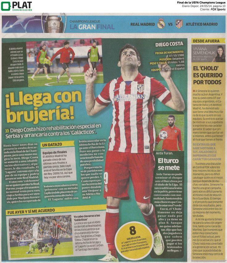 FOX Sports: Final de UEFA Champions League en el diario Depor de Perú (24/05/14)