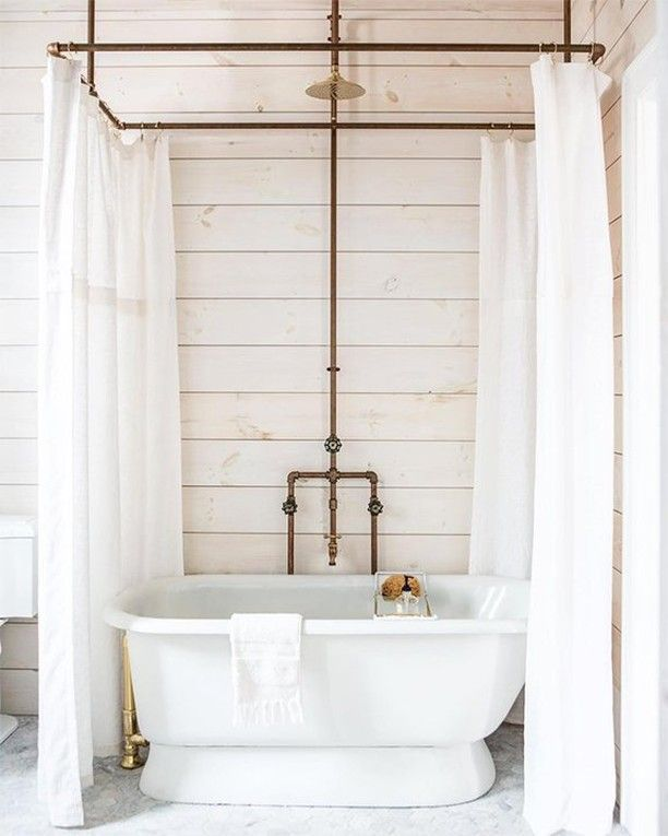 Claw Foot Tub Shower Combo Rain Shower Head Bathroom Design