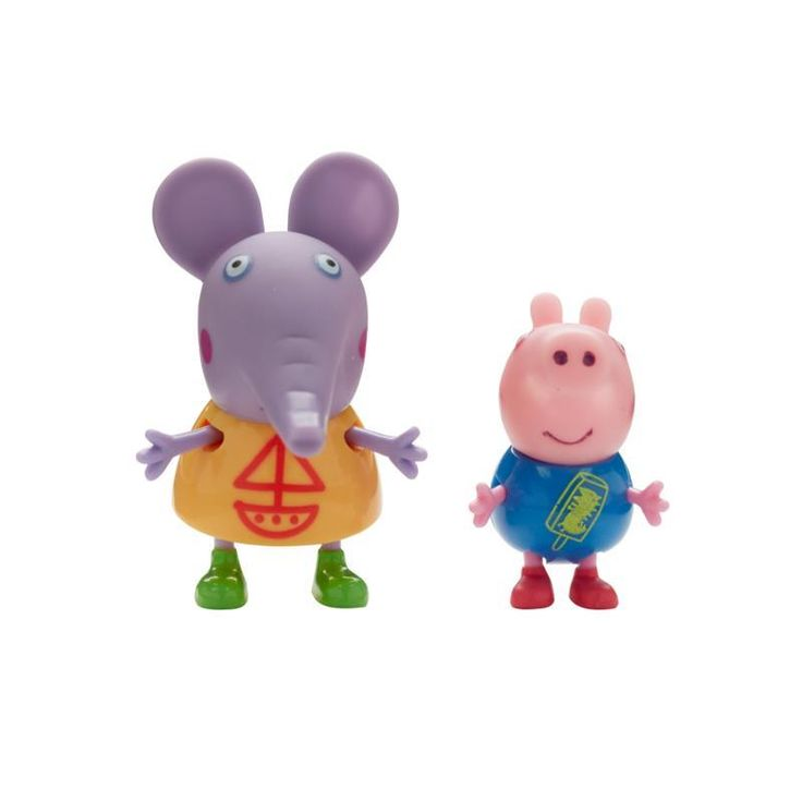 Peppa Pig Theme Park Twin Pack - Emily and George Peppa Pig collectable twin pack of figures in cute theme park designs, with articulated arms and legs. Collect Peppa and her friends. http://www.comparestoreprices.co.uk/childs-toys/peppa-pig-theme-park-twin-pack--emily-and-george.asp