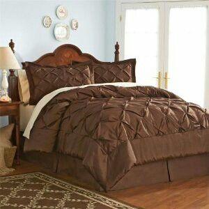 Elegant brown bed set