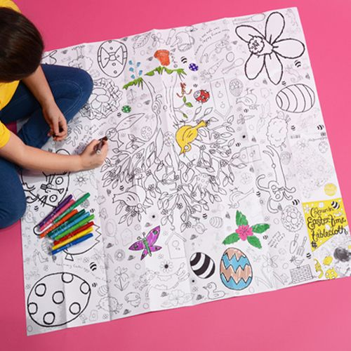 This colour-in Easter tablecloth provides perfect entertainment to distract the children from the bounty of chocolate this Easter. Price: £11.99 / www.thebritpack.co.uk