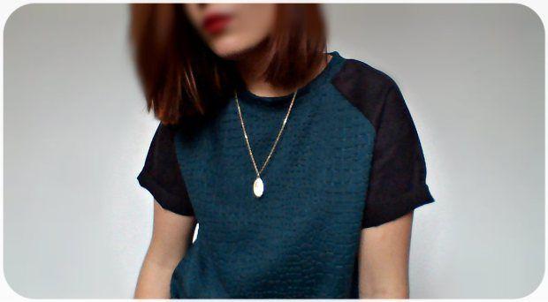 T-Shirt Manche Raglan - Tissu effet cloques
