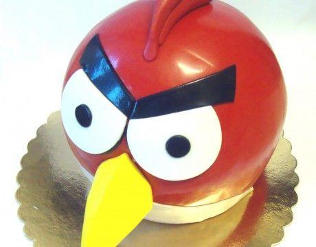 Torty Kraków Tort urodzinowy - Cukiernia Gateau Tort Angry Birds #AngryBirds #cake, #tort, www.cukierniagateau.pl