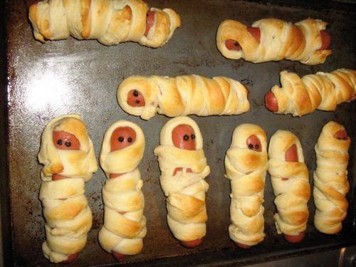 Could be mummies for halloween or babies wrapped in blankets for baby shower!