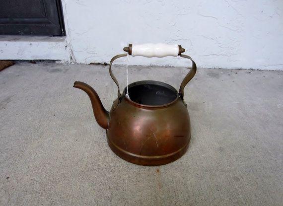 Antique Copper Tea Pot Kettle