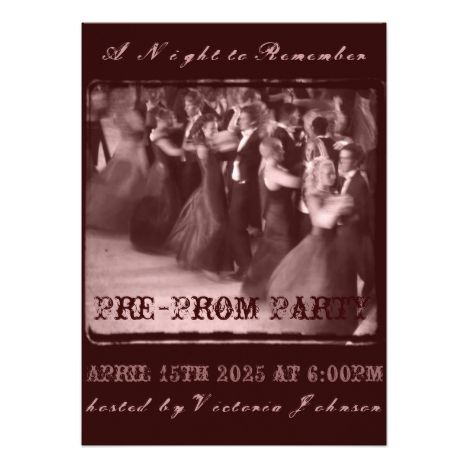 66 best prom images on pinterest invitation invitations and lyrics pre prom party invitation school dance pre party stopboris Gallery