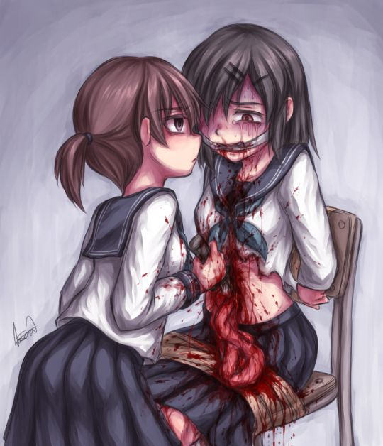 198 best creepy drawings images on pinterest for Imagenes de anime gore
