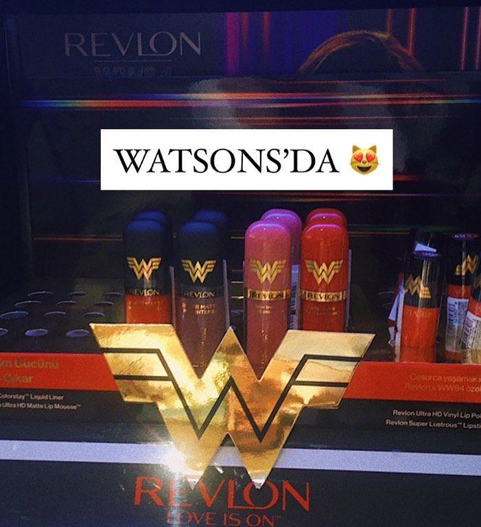 Watsons Da Revlon X Wonder Woman Urunleri Lip Glosslar 50 Rujlar 40 Alisveris Shopping Shoppingonline Sho In 2020 Broadway Shows Revlon Broadway