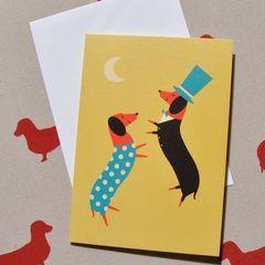 Dachshund Sausage Dog Cards Dancing Dachshunds