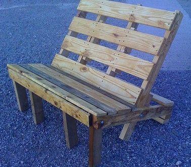 banc de jardin avec palette en bois