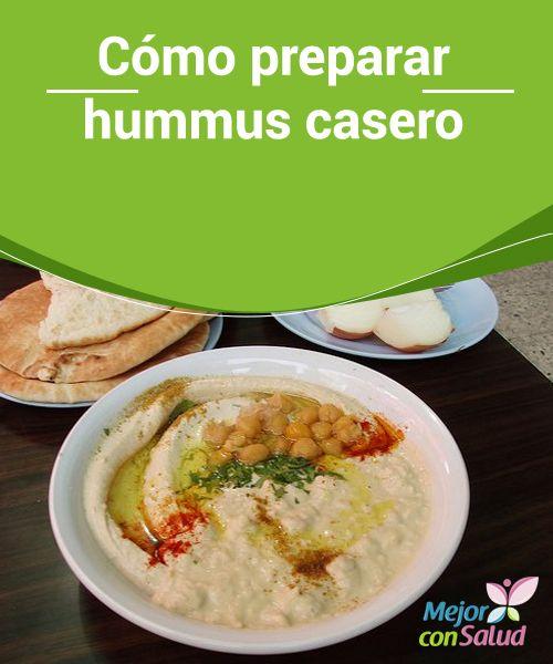 Cómo preparar #hummus casero  Preparar hummus casero es fácil y rápido, y es una de las #salsas más populares de Oriente Medio, pudiendo ser servido con #pan de pita fresco o #tostado.  #Recetas