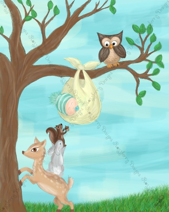 Welcome Baby nursery wall art.  This piece was designed for a friend of mine who just had a baby boy.