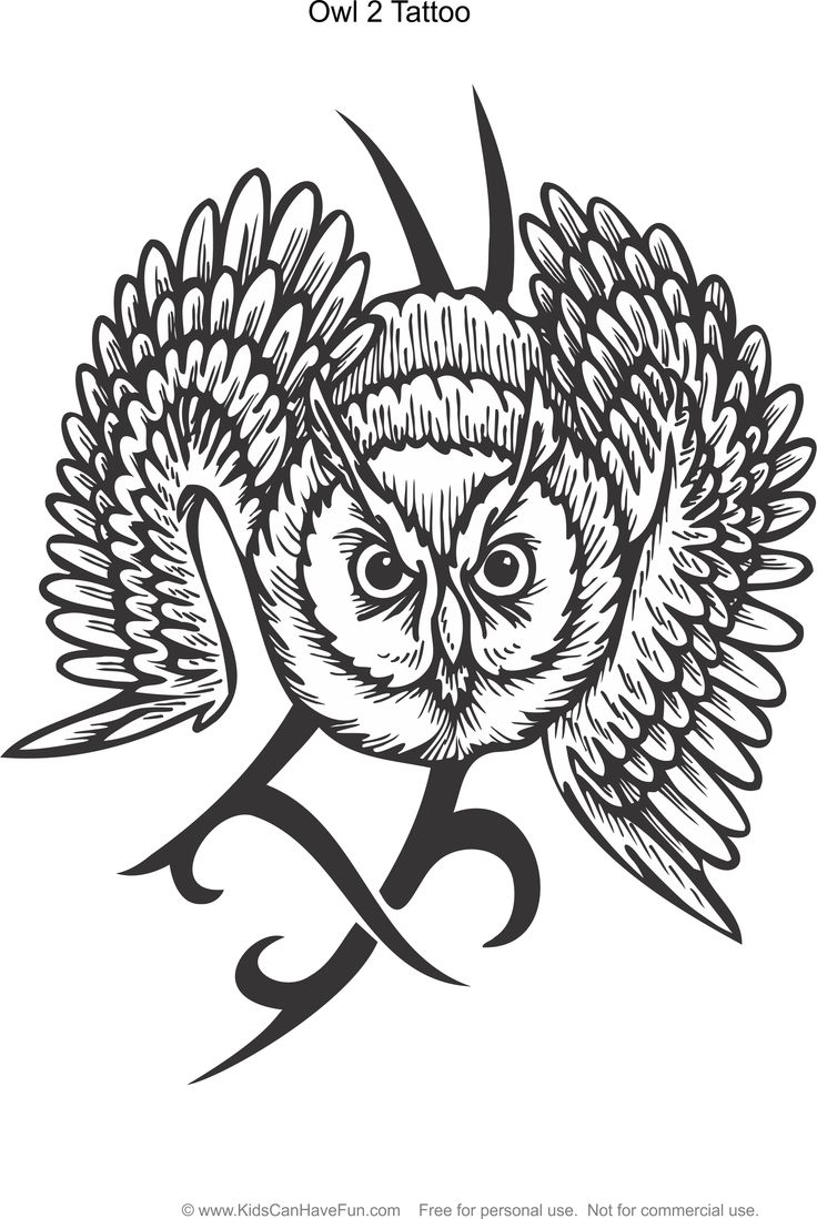 tattoo owl coloring pages - photo#36
