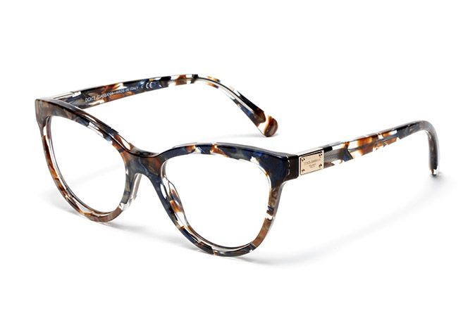 Women's brown-blue marble acetate eyeglasses with cat-eye frame by Dolce & Gabbana dg3169 | Eyewear Dolce & Gabbana