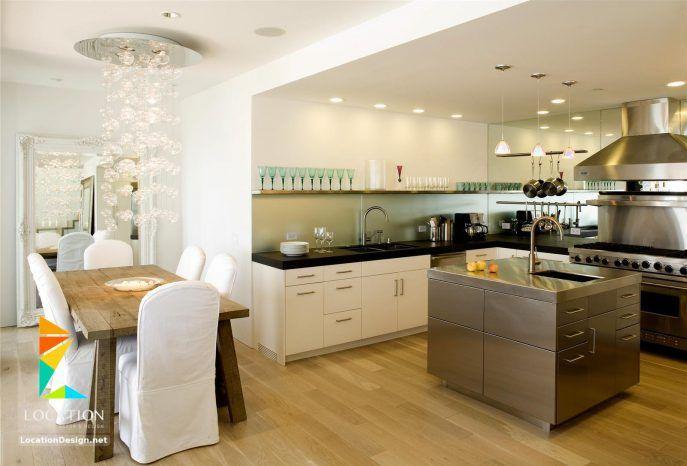 مطابخ مفتوحه على الصاله للشقق الحديثة Kitchen Design Open Contemporary Kitchen Contemporary Kitchen Design