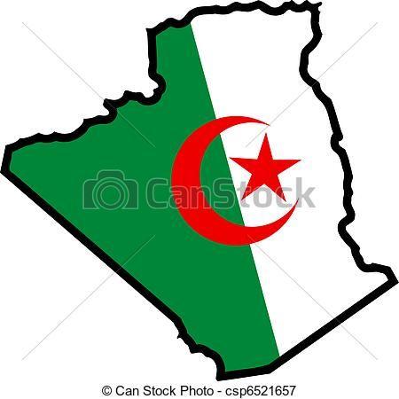 Resultado de imagen para argelia bandera mapa