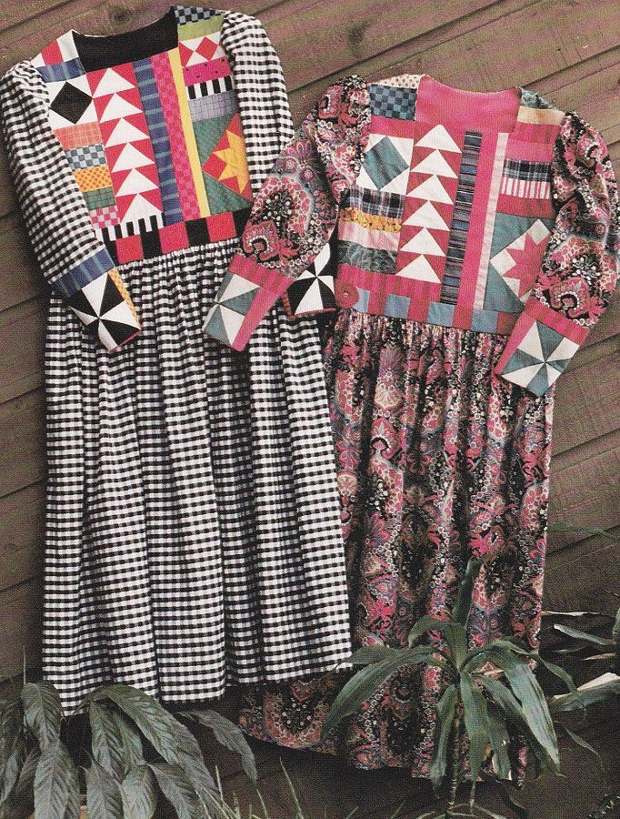 Marilou's Dress, Patchwork Embellishment Dress Pattern for Sizes 8-18 - Color Me Patterns 109 by Shirley Fowlkes, Uncut - Award Winner, American Quilt